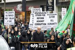 عزاداری امام حسین(ع) در خیابانهای لندن