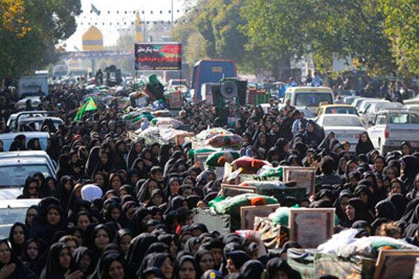 برگزاری تشییع نمادین یاران حسین(ع) توسط قبیله بنی اسد در قزوین