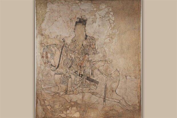 نمایش کهنترین نقاشی دیواری صدر اسلام در موزه ملی