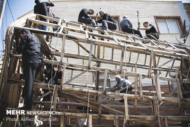 آیین سنتی نخل برداری در شاهرود