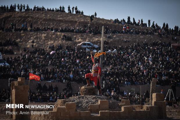 بزرگترین تعزیه میدانی کشور در صحرارود فسا استان فارس
