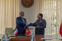 Iran, Kyrgyzstan ink agreement on security coop.