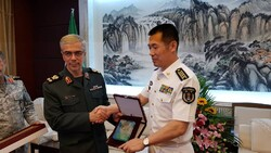 Visit of Iran military chief to Chinese Naval Base Shanghai