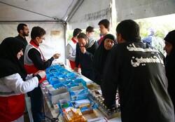 خدمات امدادی هلالاحمر در روزهای تاسوعا و عاشورای حسینی