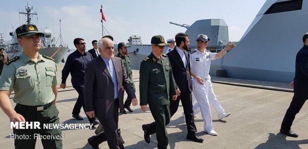 Visit of Iran military chief to Chinese Naval Base Shanghai