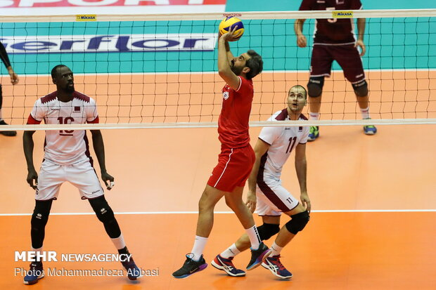 Iran vs Qatar at 2019 Asian Volleyball C'ship
