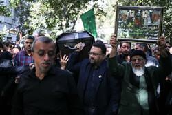 پیکر اسدالله عسگراولادی در خیابان فرشته تشییع شد