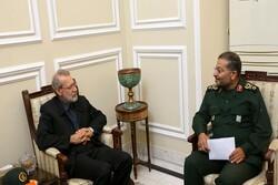 رئیس بسیج مستضعفین با رئیس مجلس دیدار کرد
