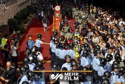 ہانگ کانگ میں مظاہرے کے دوران تشدد
