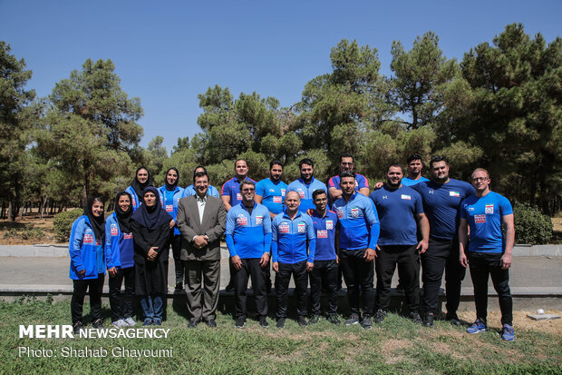 Presser of head coaches of Iran national men's and women's weightlifting teams