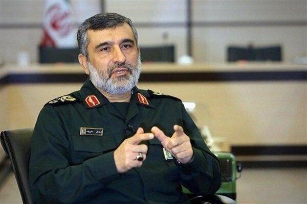 Image result for Iran's Revolutionary Guards Corps Aerospace Force Amirali Hajizadeh