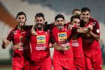 تصویری از شادی بازیکنان پرسپولیس در رختکن