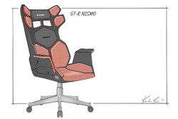 طرح اولیه نیسان از صندلی خودرو مخصوص بازی های رایانه ای