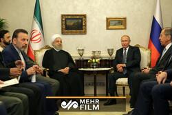 ترکی میں صدر روحانی اور صدر پوتین کی ملاقات