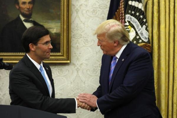 جلسه ترامپ و وزیر دفاع آمریکا بعد از حمله به آرامکو