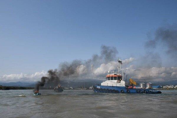 Maritime search, rescue maneuver in Astara