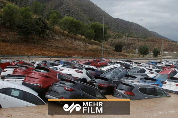 خسارت سیل در جنوب اسپانیا