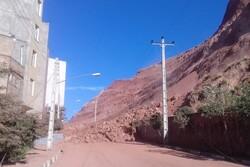 شدت ریزش کوه در شهرک باغمیشه/ خانههایی که تخلیه شدند
