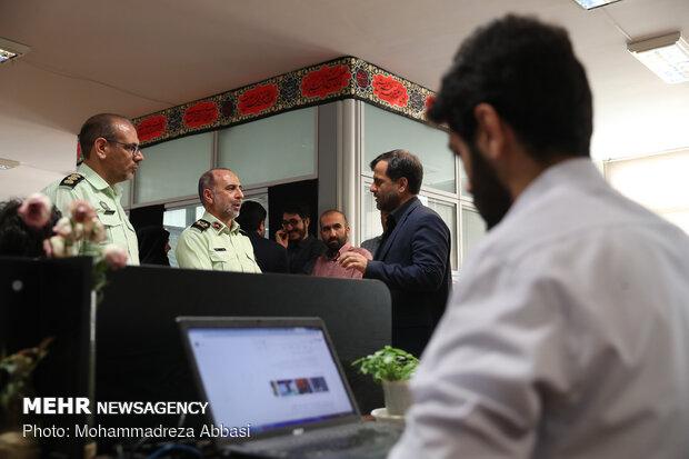 """زيارة العميد """"نوريان"""" إلى وكالة مهر للانباء"""