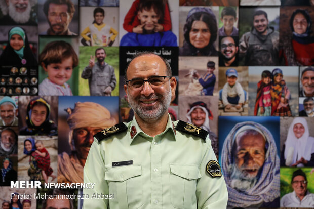 Spokesperson of law enforcement force pays visit to Mehr news agency