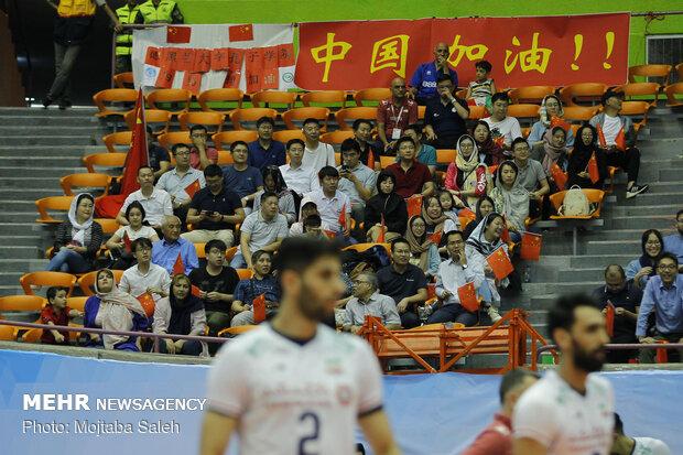 دیدار تیم های ملی والیبال ایران و چین