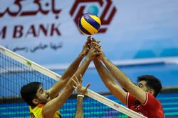 ایران اور ہندوستان کی والیبال ٹیموں کے درمیان مقابلہ