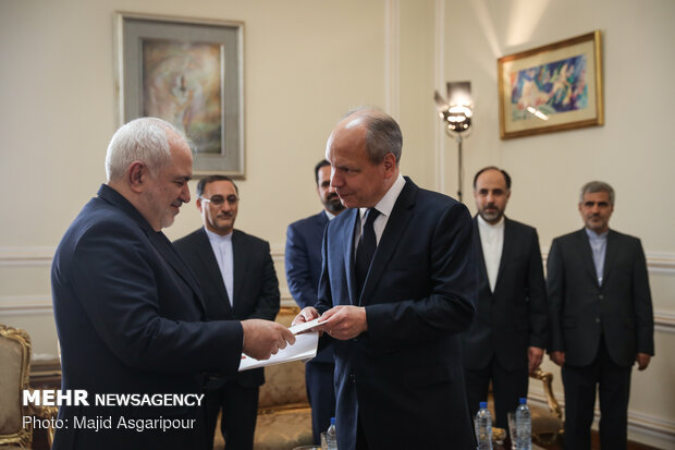 Iran Foreign Minister meeting with new Swedish envoy