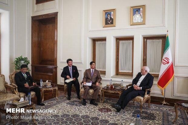 FM Zarif's meeting with departing North Korean envoy
