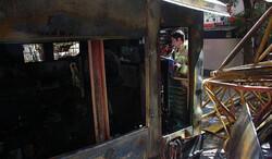آتش سوزی موتور برق دیزل در کارگاه ساختمانی