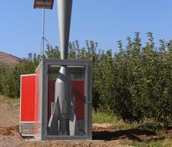 دستگاه ضد تگرگ در باغ سیب مرند نصب شد