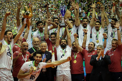 Trophy ceremony of 2019 Asian Volleyball C'ship