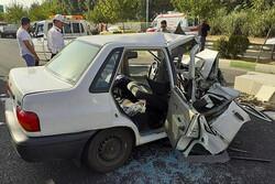 ۴ کشته به دلیل تصادف دو خودرو پراید در داراب