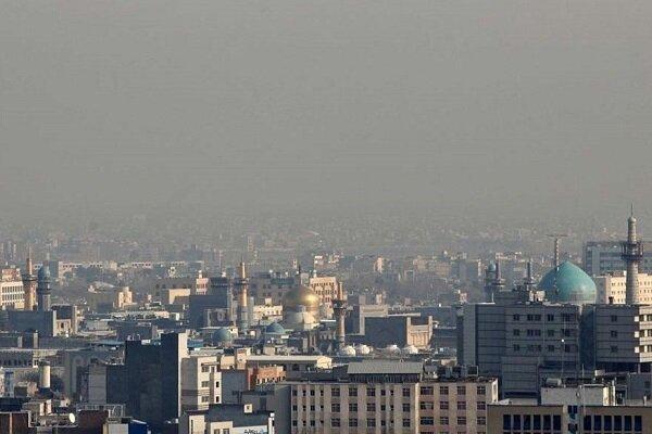 کیفیت هوای مشهد همچنان ناسالم