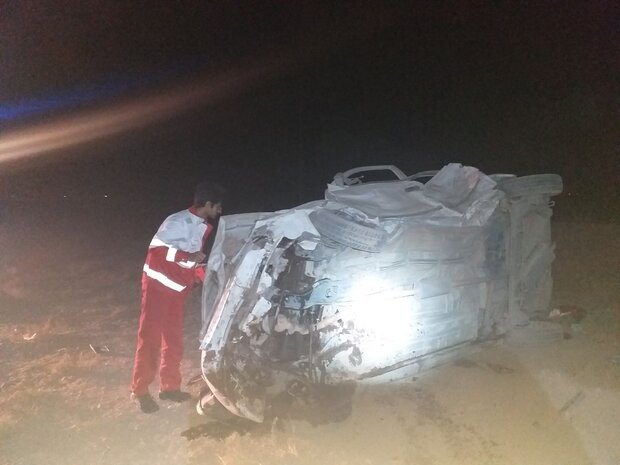 تصادف تریلی با سمند در محور دامغان-شاهرود/ ۵ نفر جان باختند