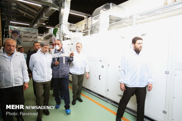 Inaugurating assembly line of military vehicles batteries