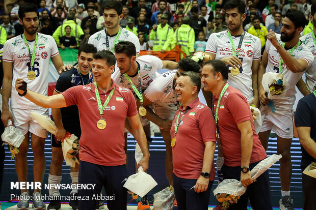 Trophy ceremony of Asian Volleyball C'ship