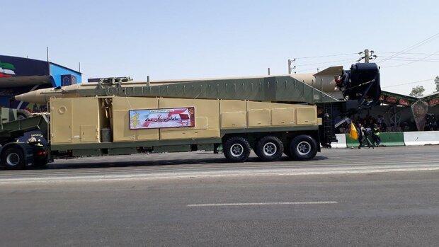 عرض 18 صاروخيا باليستيا تابعا للحرس الثوري الايراني