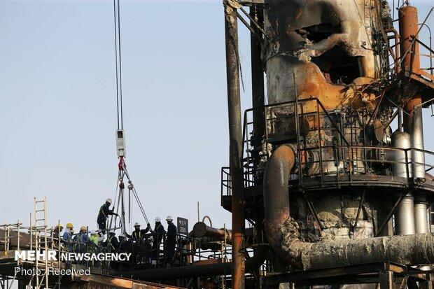 خسائر منشآت أرامكو جراء هجوم طائرات انصار الله