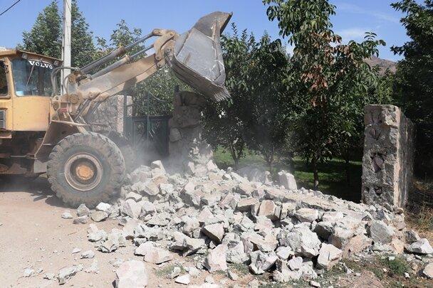 تخریب۳۰فقره ساخت وساز غیرمجاز به ارزش۲۰۰میلیارد ریال در فیروزکوه