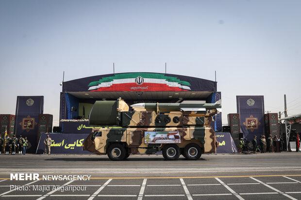 Massive military parade in Tehran