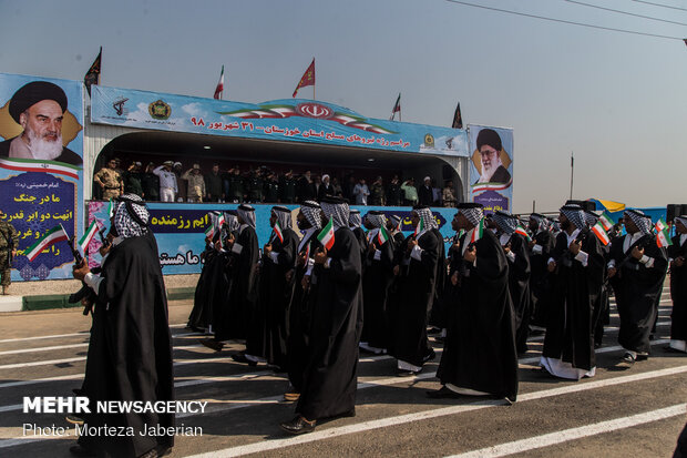مراسم رژه نیروهای مسلح در اهواز
