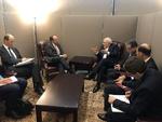 ظریف با وزیر امور خارجه اتریش دیدار و گفتگو کرد