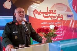 سپاه استان بوشهر برای حمایت از نظام تعلیم و تربیت آماده است