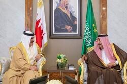 دیدار پادشاه بحرین با «ملک سلمان» در شهر جده