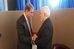 پاکستان کے وزیر خارجہ کی ظریف سے ملاقات