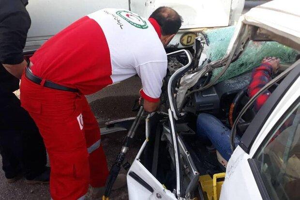تصادف زنجیره ای در محور ایلام-حمیل ۶ مجروح برجا گذاشت