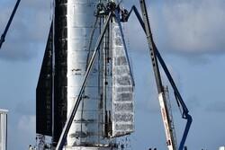 تصاویر جدید از نمونه اولیه موشک «استارشیپ» منتشر شد