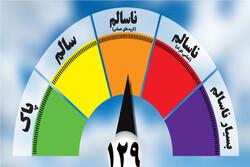 کیفیت هوای مشهد در شرایط هشدار برای گروههای حساس