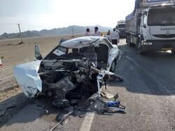 ۴ کشته و ۲ مصدوم در تصادف پراید و کامیون