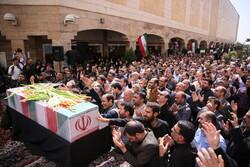 حضرت امام خمینی (رہ) فاؤنڈیشن میں گمنام شہید کی تشییع